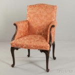 Upholstered Carved Armchair (Lot 1018, Estimate: $700-900)