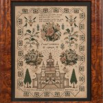 Framed Needlework Sampler (Lot 1239, Estimate: $200-300)