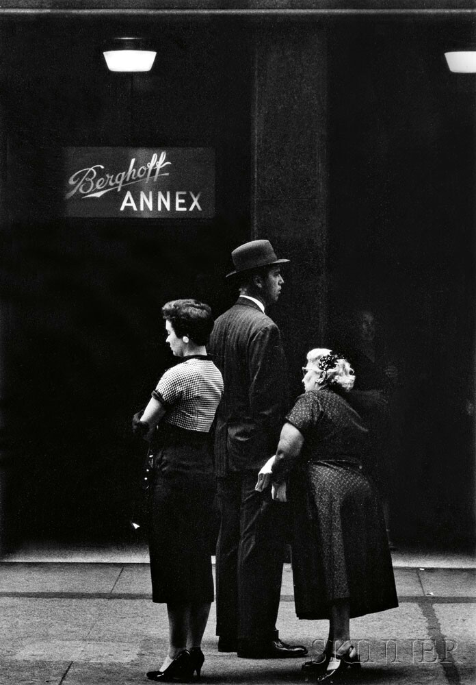 Ray K. Metzker (American, 1931-2014) Berghoff Annex, Chicago, c. 1958 (Lot 180, Estimate: $2,000-3,000)