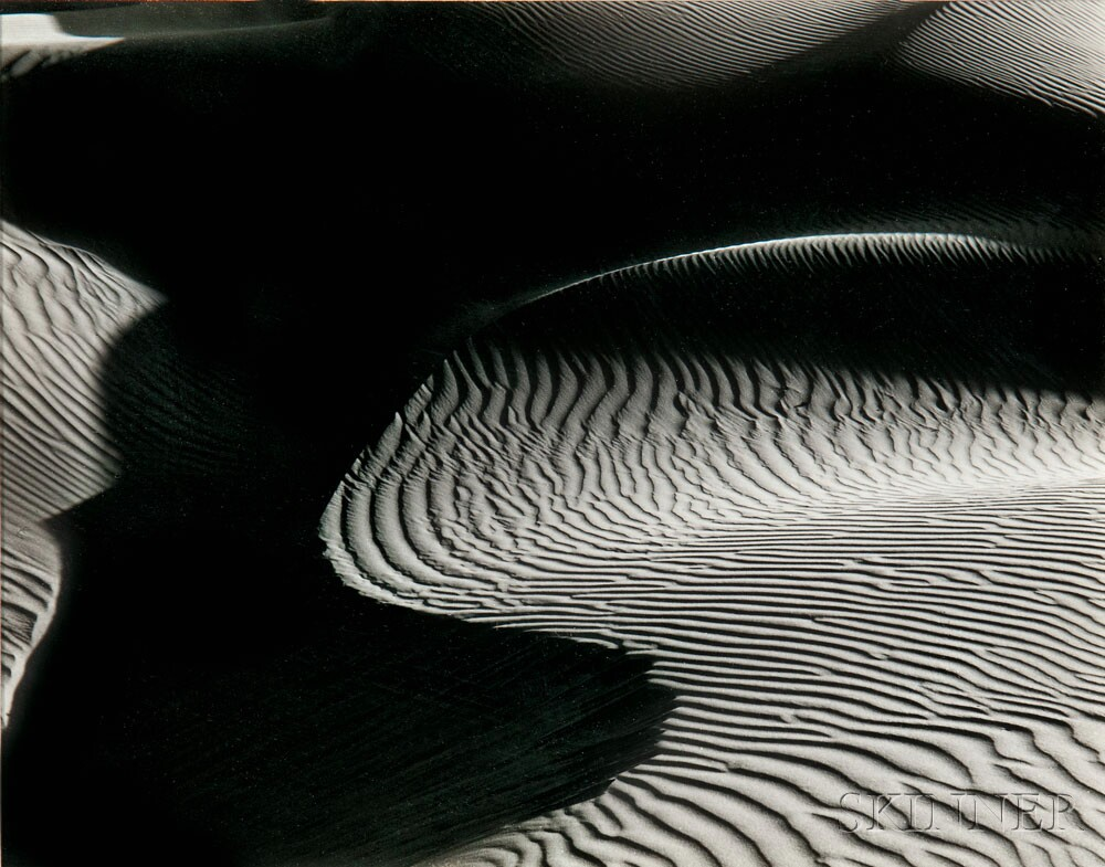 Edward Weston (American, 1886-1958) Dunes, Oceano, 1936, printed later (Lot 163, Estimate: $3,000-5,000)