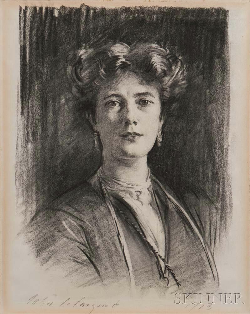 John Singer Sargent, Portrait of a Lady, 1913, Portrait of a Lady (Lot 373, Estimate: $50,000-70,000)