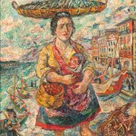 David Davidovich Burliuk (American/Ukranian, 1882-1967) Portuguese Mother and Child (Lot 402, Estimate: $8,000-12,000)