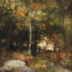 Thomas Moran (American, 1837-1926) Autumn Woods, alternately titled Yosemite Landscape (Lot 276, Estimate: $70,000-90,000)