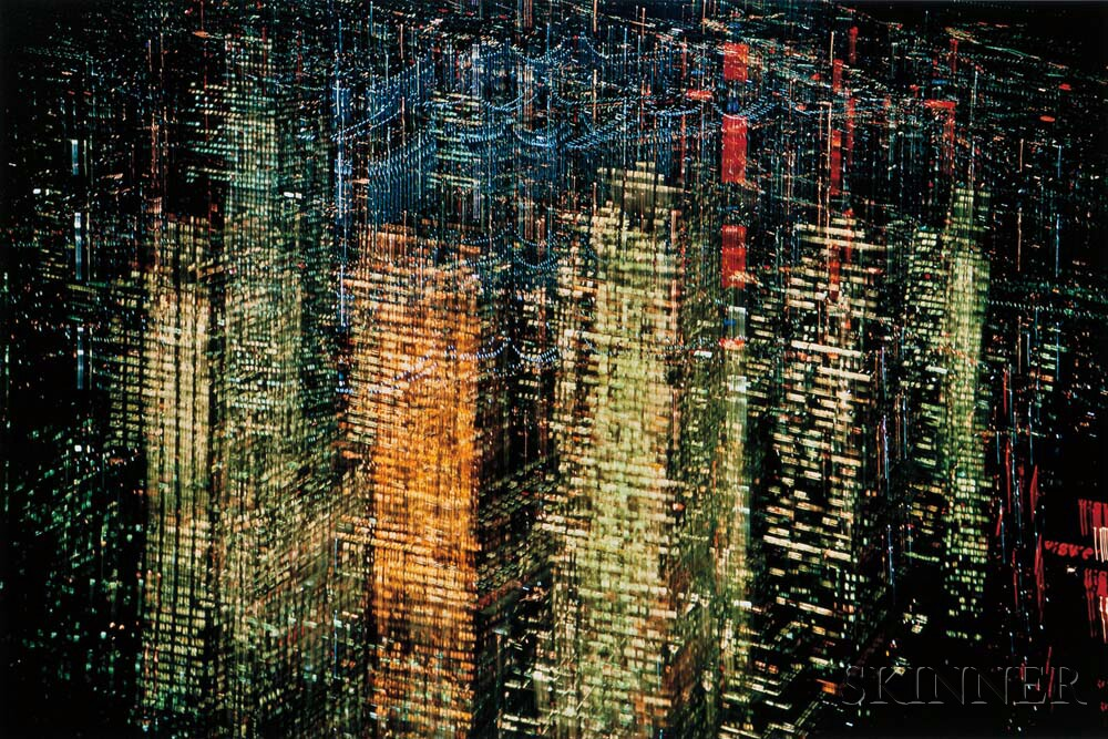 Ernst Haas (Austrian/American, 1921-1986) Lights of New York City, 1970, printed 2016 (Lot 187, Estimate: $3,000-5,000)