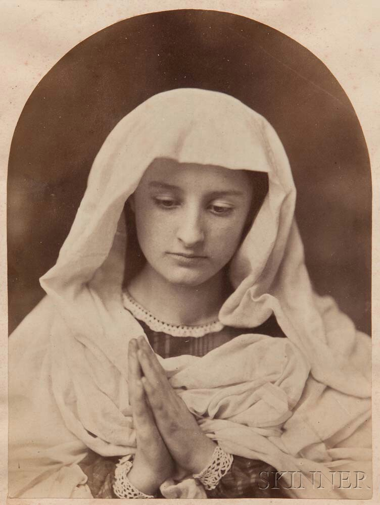 Oscar Gustave Rejlander (British, 1813-1875) Young Woman in Prayer, 1858-60 (Lot 137, Estimate: $800-1,200)