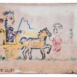 Pablo Picasso (Spanish, 1881-1973) Femme au char triomphal, 1949 (Lot 100,   Estimate: $40,000-60,000)