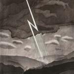 David Hockney (British, b. 1937) Lightning, from The Weather Series, 1973   (Lot 78, Estimate: $7,000-9,000)