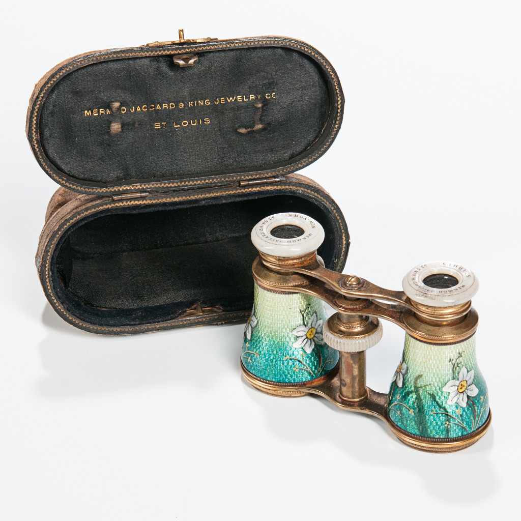 The Theater Goer- Pair of Mermod Jaccard Enameled Opera Glasses, Lot 1136- With this pair of antique glasses, they will be able to re-live the elegance and pageantry of seeing a theatrical production.