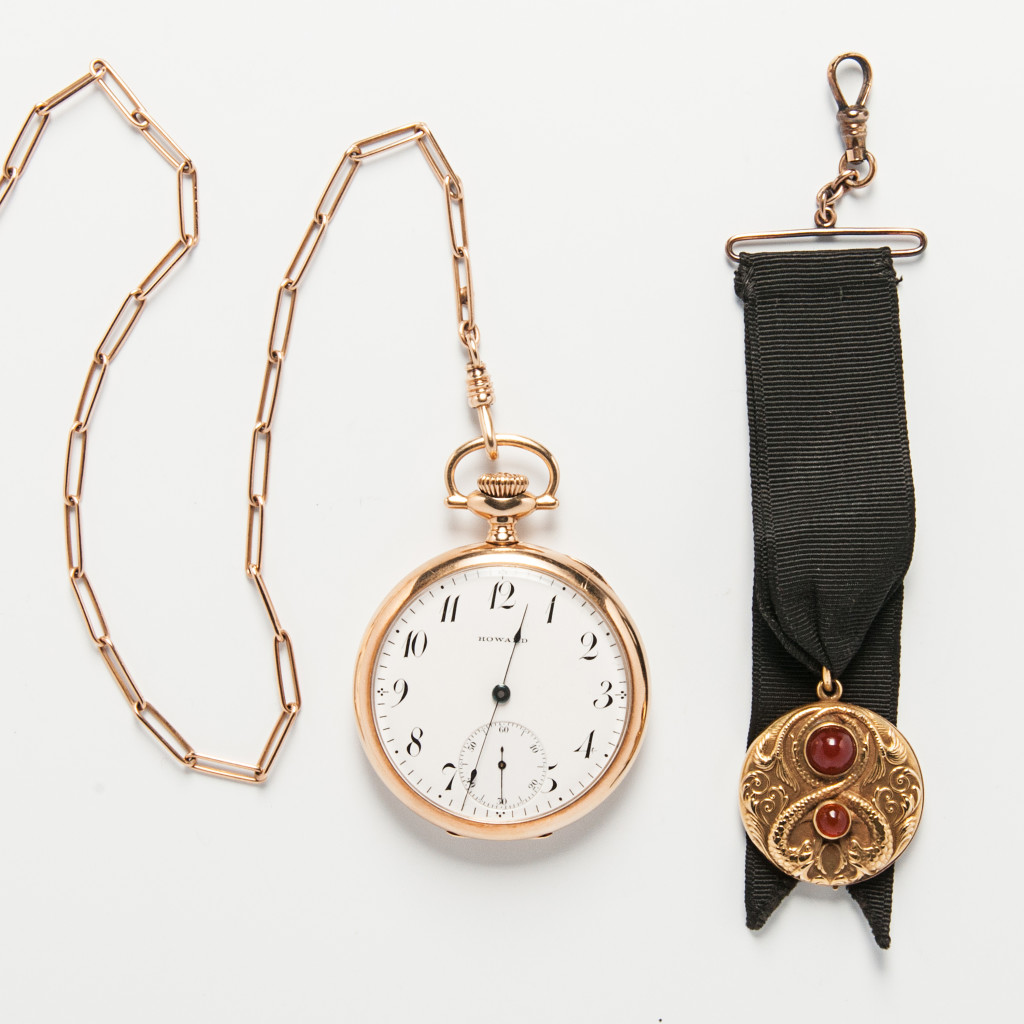 The Time-Traveler Whatever your century, tell the time in style with this Howard 14kt Gold Pocket Watch 1021
