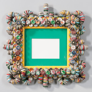 Rick Ladd Bottle Cap Frame  (Lot 1137, Estimate $100-150)