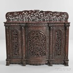 Anglo-Indian Carved Hardwood Sideboard, early 20th century (Lot 598, Estimate: $400-600)