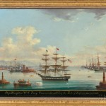 M. Renault (France, 19th Century) Ship Houghton Wm. G. Percy Commander, entering the Port of Leghorn, November 24th, 1862 (Lot 170, Estimate: $8,000-10,000)