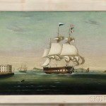 Thomas Chambers (New York/England, 1808-1869) New York Harbor (Lot 172, Estimate: $6,000-8,000)