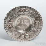 German Silver Repousse Dish, Schleissner & Sohne (Lot 1385, Estimate: $300-500)