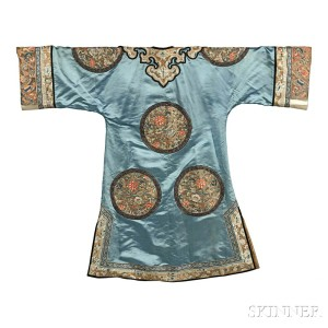 Embroidered Lady's Informal Robe, China, 19th century (Lot 119, Estimate: $2,000-3,000)