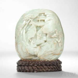 Jade Boulder, China, 18th century (Lot 202, Estimate: $60,000-80,000)