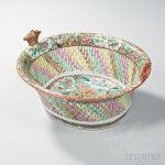 Rose Medallion Reticulated Porcelain Fruit Basket (Lot 1, Estimate $400-600)