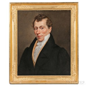 Anglo/American School, 18th/19th Century   Portrait of a Gentleman (Lot 10, Estimate $1,500-2,500)