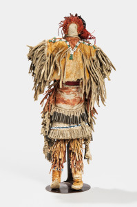 Apache Beaded Hide Doll with Baby Carrier, c. last quarter 19th century (Lot 59, Estimate: $5,000-7,000)