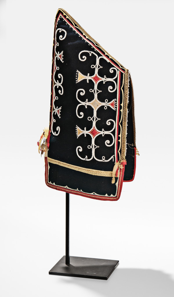 Micmac Beaded and Silk Applique Decorated Woman's Hood, c. 1840s (Lot 132, Estimate: $20,000-30,000)