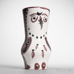 Pablo Picasso (Spanish, 1881-1973)   Maroon/Black Wood-owl, 1952 (Lot 103, Estimate $8,000-12,000)