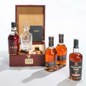 Selection of Highland Park Whisky on Offer