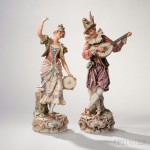 Pair Royal Dux Dancing Figures (Estimate: $400-600)