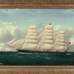 Frederick J. Tudgay (United Kingdom, 1841-1921) Portrait of a Three-masted Vessel(Lot 134, Estimate: $6,000-9,000)