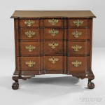 Carved Mahogany Block-front Chest of Drawers, Massachusetts, c. 1760-80 (Lot 28, Estimate: $6,000-8,000)