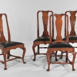 Assembled Set of Four Side Chairs, probably Massachusetts, c. 1740-60 (Lot 31, Estimate: $2,000-3,000)