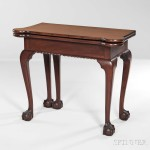 Mahogany Games Table, New York, c. 1760-80 (Lot 48, Estimate: $3,000-5,000)