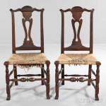 Pair of Cherry Side Chairs, New England, late 18th century (Lot 67, Estimate: $800-1,200)
