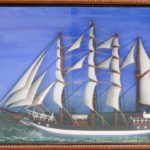 Contemporary Carved and Painted Ship's Diorama of the Camille (Lot 1004, Estimate: $200-300)