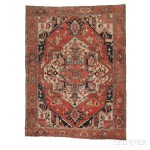 Serapi Carpet, Northwestern Iran, c. 1890 (Lot 14, Estimate: $1,000-1,500)