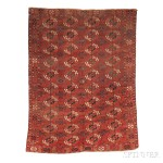 Tekke Main Carpet, Central Asia, early 19th century (Lot 96, Estimate: $1,500-  1,800)