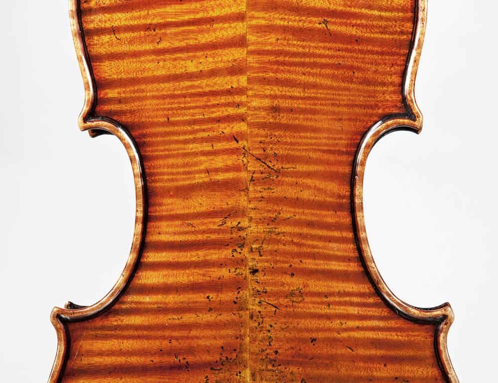 [DETAIL] Italian Violin, Carlo Ferdinando Landolfi, Milan, c. 1772 (Lot 198, Estimate $150,000-200,000)