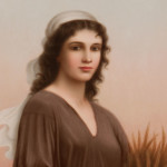 [Detail] KPM Porcelain Plaque with Depiction of Ruth, Germany, late 19th/early 20th century (Lot 451, Estimate $3,000-5,000)