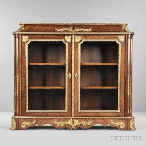 Napoleon III-styleTulipwood and Walnut Gilt-bronze-mounted Cabinet, France, 19th century (Lot 587, Estimate: $10,000-20,000)