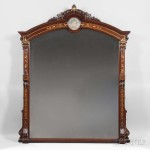 Renaissance Revival Overmantel Mirror with Pâte-sur-Pâte Plaque (Lot 462, Estimate: $2,000-3,000)