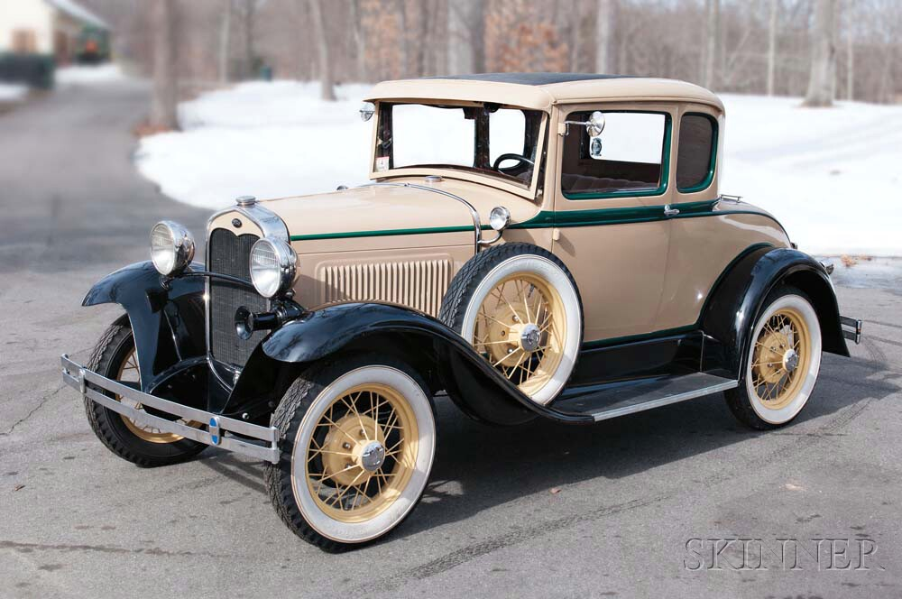 1931 Ford Model A Deluxe Five-window Coupe (Lot 8, Estimate $16,900-22,900)