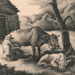 Thomas Hart Benton (American, 1889-1975) White Calf, 1945 (Lot 40, Estimate: $1,500 - 2,000)