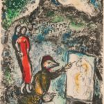 Marc Chagall (Russian/French, 1887-1985) Devant Saint-Jeannet, frontispiece for The   Ceramics and Sculptures of Chagall, 1972 (Lot 69, Estimate: $3,000 - 5,000)