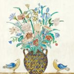 Charles E. Prendergast (American, 1863-1948) Untitled (Vase with Flowers and Birds) (Lot 382, Estimate $30,000-50,000)