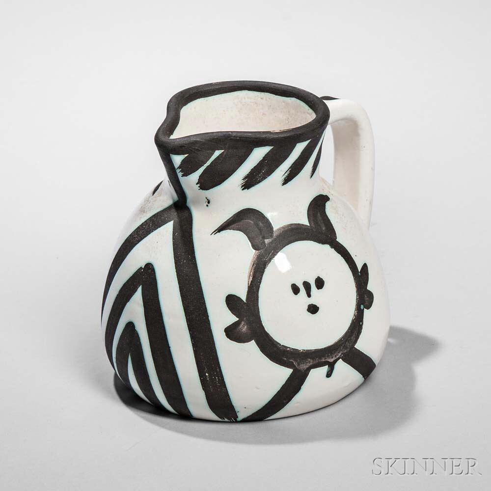 Pablo Picasso (Spanish, 1881-1973) Head Pitcher, 1953 (Lot 113, Estimate: $1,000-1,500)