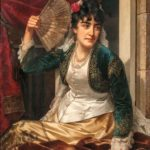 Jan Frederik Pieter Portielje (Dutch, 1829-1908) Woman with a Fan (Lot 233, Estimate: $10,000-15,000)