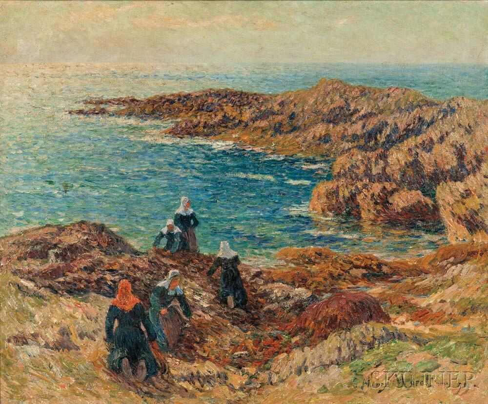 Henry Moret (French, 1856-1913) La Côte de Trégune/Harvesting Kelp (Lot 360, Estimate: $35,000-55,000)