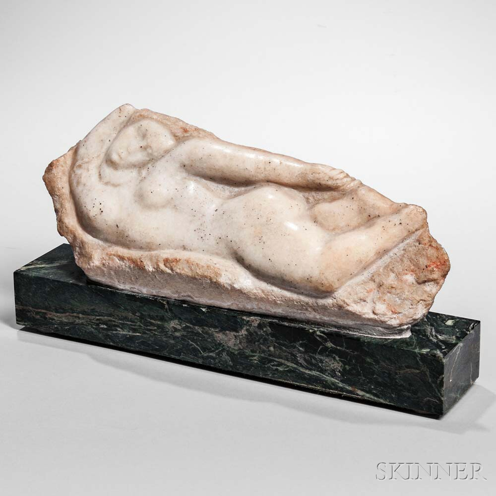 William Zorach (American, 1887-1966) Reclining Nude (Lot 381, Estimate: $7,000-9,000)