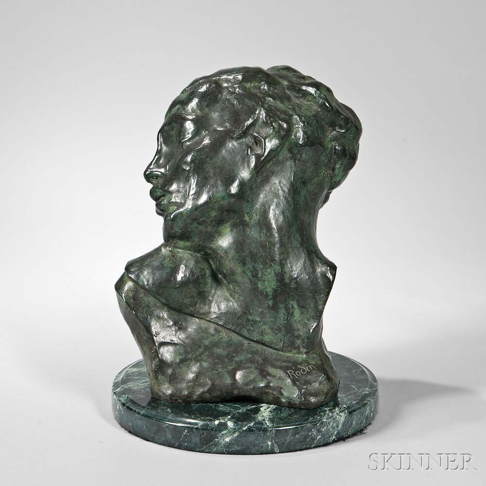 Auguste Rodin (French, 1840-1917) Tête de la Luxure, a Later Casting (Lot 385, Estimate: $8,000-12,000)