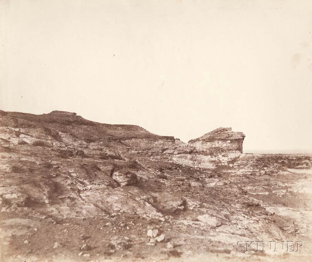 John Beasley Greene (American, 1832-1856) View of Terrain near Gebel Abousir, Second Cataract, Egypt, c. 1853 -55 (Lot 124, Estimate: $2,000-3,000)