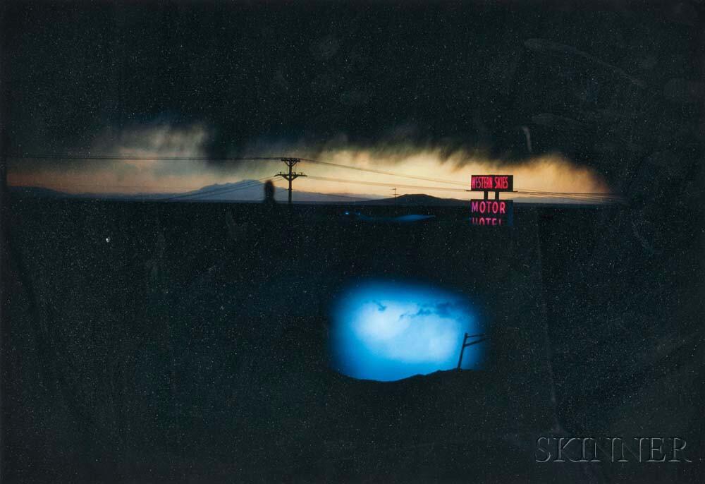 Ernst Haas (Austrian/American, 1921-1986) Western Skies Motel, New Mexico, 1978, printed 2017 (Lot 161, Estimate: $2,000-3,000)